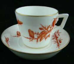 Minton Aesthetic Movement Hand Painted Cup And Saucer Excellent Condition G3801