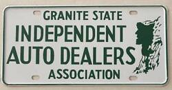 Nh 1960's Granite State Independent Auto Dealers Assoc. Booster License Plate