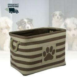 Dog Toy Storage Container Puppy Home Decor Bins Holding Pet Treats Box Baskets