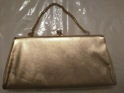 Gold Clutch Purse Used  $24.99