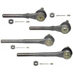 Set-moes3364t Moog Set Of 4 Tie Rod Ends Front Driver And Passenger Side New Lh Rh