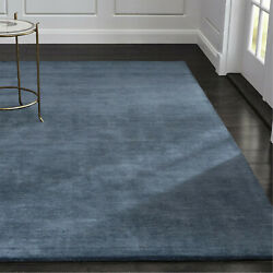 Area Rugs 10and039 X 14and039 Baxter Blue Hand Tufted Crate And Barrel Woolen Carpet