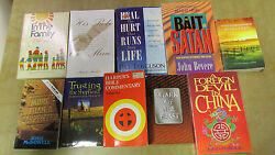 Lot Of 10 Pre-owned Religious Jesus Christian Assorted Titled Books