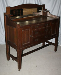 Antique Mission Arts And Crafts Sideboard Buffet – Original Finish