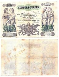 - Paper Reproduction - Austria Hungary 100 Gulden 1863 45