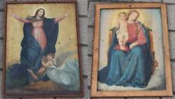 Antiquares Oil Painting - Both Sides Painted - 2 Sacred Renaissance Baroque