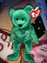 Ty Beanie Baby Erin The Bear 1997 Retired Rare- Collectible