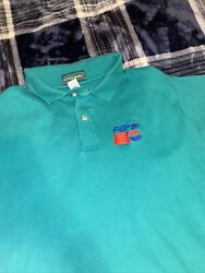 Pepsi Emboidered Logo Polo Shirt Womanandrsquos Large Combed Cotton Navy Blue Uniform