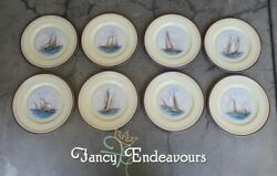 Eight 1930s Lenox Yacht Defenders America's Cup Tall Ships Special Plates