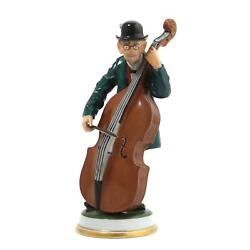 Porcelain Figurine Bass Violinist. Germany Rosenthal 196 Early 20th Century