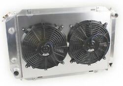 For 79-93 Ford Mustang Gt/lx 5.0l V8 Mt/at 3row Aluminum Radiatorandshroud And Fans