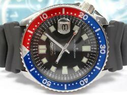 Seiko 150m Diver 7002-700a Watch Self-winding Second 6105 Diver Look Customized