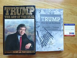 Rare Donald Trump Autographed The Art Of The Deal 1987 First Edition Book Psa