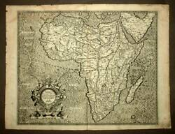 Map Geographic Africa Ex Magna Orbis Earth Descriptione By Mercator 1595