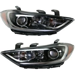 Headlight For 2017-2018 Hyundai Elantra Driver And Passenger Side