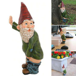Garden Funny Gnome Ornament Dwarfs Ceramic Stone Effect Tall Outdoor Or Indoor