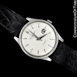 1963 Vintage Mens Cal. 8531 Stainless Steel Automatic Watch Mint - Warranty