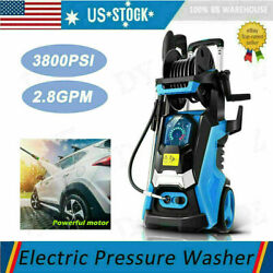 3800psi 2.8gpm Electric Pressure Washer High Power Cleaner,water Sprayer B E 325