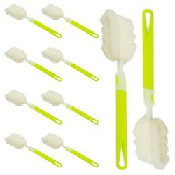 Bottle Sponge Brush with Long Handle Soft for Cleaning Bottles Cups 10 Pack $9.99