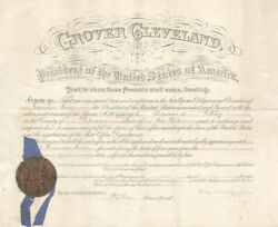 Grover Cleveland - Civil Appointment Signed 05/08/1896 With Co-signers