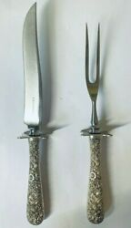 S Kirk And Son Repousse Carving Set Sterling Silver Vintage No Monograms 228 Grams