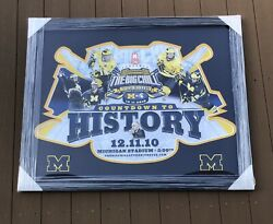 Michigan Wolverines Hockey Big Chill At The Big House 2010 35x43 Framed Poster