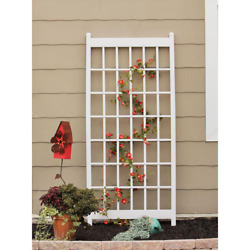Trellis 38 In. W X 85 In. H Vinyl Resin In White Finish With Wall-mounting Kit