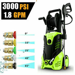 3000psi 1.8gpm Electric Pressure Washer High Power Water Cleaner Sprayer E 325