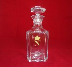 Vintage Baccarat French Napoleon Crystal Cognac Whisky Decanter Harcourt Pattern