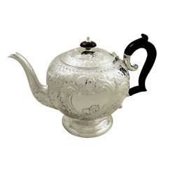 Antique Victorian Sterling Silver Teapot - 1896