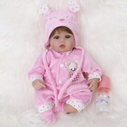 Baby Doll Realistic Silicone Vinyl Pink Mouse Baby 16andrdquo Soft Body Life Like Doll.