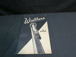 Vintage 1941 Walthers Model Railroad Supplies Price Guide, O Gauge