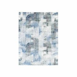 5and0391x7and039 The Intertwined Passage Silk With Textured Wool Hand Knotted Rug R59481