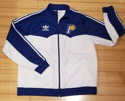 Vintage Adidas Indiana Pacers Warm Up Jacket 2xl Track Suit Spell Out Windbreak