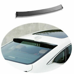 For Honda Accord 10th 2018-2020 Painted Roof Trunk Spoiler Wing Flap Abs Black