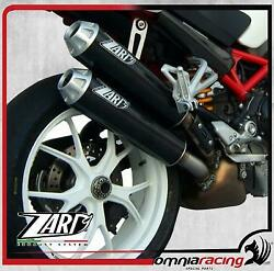 Zard Carbon Racing Side Mount Exhausts For Ducati Monster S2r 800 2006 06