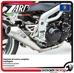 Zard Full Exhaust Titanium Silencer Street Legal Triumph Speed Triple 955 2004