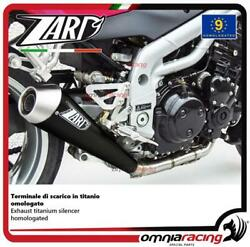 Zard Exhaust Titanium Black Silencer Approved For Triumph Speed Triple 955 02