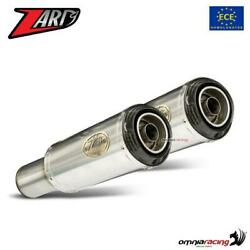 Zard Sp Pair Of Exhaust Steel+carbon Cap Approved Triumph Speed Twin 1200 19