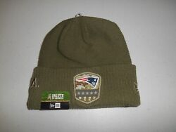 Nwt New Era 2019 New England Patriots Salute To Service On Field Nfl Hat Beanie