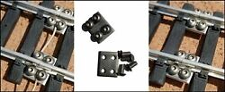 10 G Scale Stainless Steel Track Locks - The Best Made - Fits Lgb, Usa, Bachmann