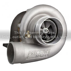 Precision Turbo Gen1 6766 B Bearing Hp Cea Billet T3 Inlet V-band Outlet .82 A/r