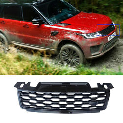 Front Upper Bumper Mesh Grill Grille Glossy Black For Range Rover Sport 2018-19