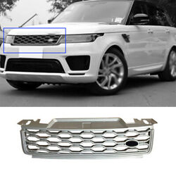 Front Upper Bumper Mesh Grill Grille Silver Abs For Range Rover Sport 2018-2019
