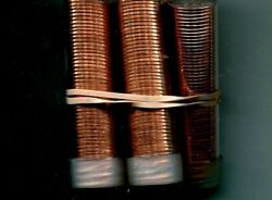 2013 P Lincoln Head Penny 50 Coin Roll Lot Of 5 Choice Bu 8234n