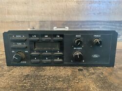 90's Ford Factory Oem Radio Am/fm Factory Vintage E6df-14a459-c - Untested