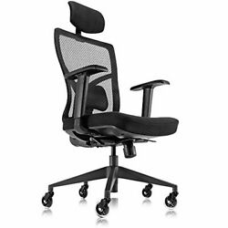 Ergonomic Mesh Office Chair With Roller Blade Wheels, Ridiculously Comfortable H