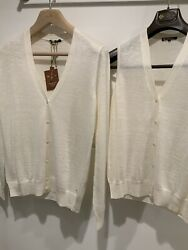 Loro Piana Women's Cashmere/linen/silk Twin-set Sweaters—new With Tags
