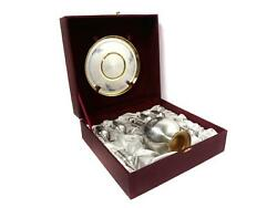 Silver Decanter And 6 Vodka Cup Shot Cup On A Tray. Russia Severnaya Chern