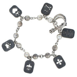 Queen Baby Charm Bracelet 6 1/2 - Sterling Silver Toggle Clasp Women's